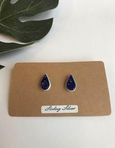 A personal favourite from my Etsy shop https://www.etsy.com/uk/listing/511407061/royal-blue-speckled-drop-earrings