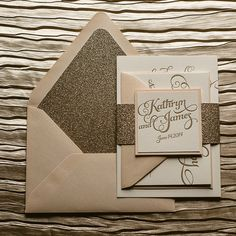 KATHRYN Suite Glitter Package wedding invitations