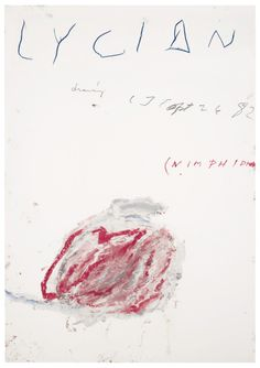 Cy Twombly, Lycian Drawing (Nimphidia),