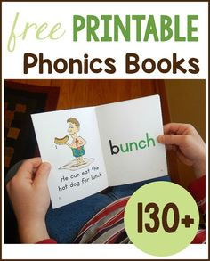 Get over 130 free phonics books to print for your early reader! My kids love the funny pictures in these decodable readers.