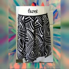 Grace Dane Lewis black/white abstract ptrn skirt Nwot Grace Dane Lewis black /white abstract pattern skirt  Excellent condition No flaws  Shell 97% cotton 3% spandex Lining 100% acetate  Measurements laying flat Waist 36 in. Length 22 in.  Posted on other sites Grace Dane Lewis Skirts