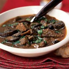 Wild Mushroom and Beef Stew | MyRecipes.com #myplate #protein #vegetable