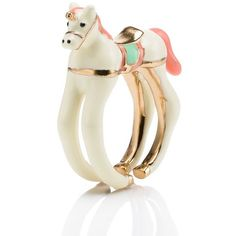 Kate Spade Carnival Nights Unicorn Ring ($98) ❤ liked on Polyvore featuring jewelry, rings, accessories, polish jewelry, unicorn ring, kate spade ring, kate spade jewelry and kate spade