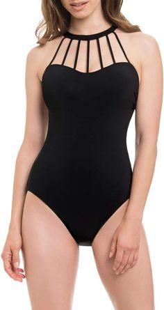 4ce0d5cd93bdd Venca - Swimsuit striped bustier woman / Bañador bustier mujer de ...