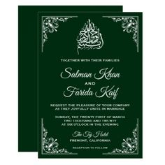 Shop Midnight Blue Islamic Muslim Wedding Invitation created by ShabzDesigns. Personalize it with photos & text or purchase as is! Muslim Wedding Cards, Muslim Wedding Invitations, Wedding Invitation Card Design, Wedding Card Design, Diy Invitations, Elegant Wedding Invitations, Card Wedding, Invites, Religious Wedding