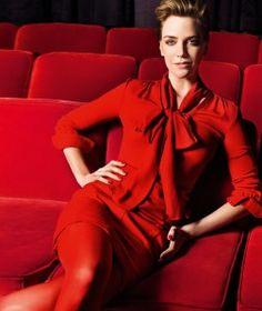 Rode jurk - styling met rode panty