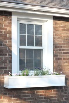DIY Simple Window Planters (what if you covered with copper sheeting?)