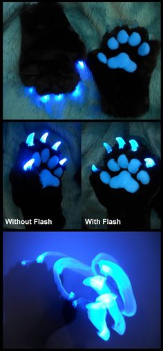glowing claws on fursuit paws Fursuit Tutorial, Cosplay Tutorial, Cosplay Diy, Fursuit Paws, Wolf Fursuit, Wolf Costume, Furry Drawing, Projects To Try, Costume Ideas