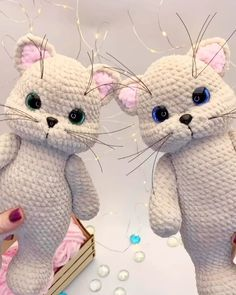 This ready amigurumi plush toy cat boy. The toy measures approximately 26 cm = 10 inches. Crochet Animal Patterns, Crochet Patterns Amigurumi, Crochet Animals, Crochet Cat Pattern, Knitting Patterns, Gato Crochet, Crochet Rope, Amigurumi Toys, Sewing Basics