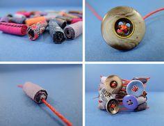 Fabric beads. Take a look.
