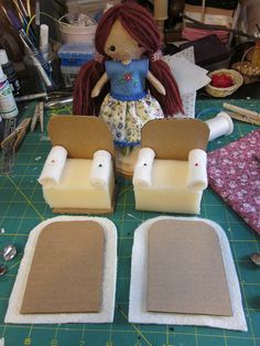 Use this to make a chair pincushion rather than for a dolls house