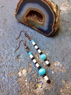 Handmade Egyptian Inspired Bohemian Bead Earrings by JupiterOak