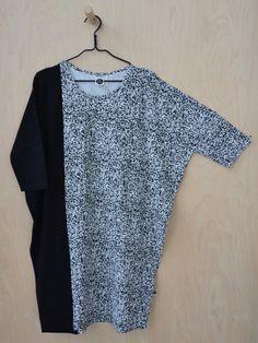 Eripari oversize tunic, black and white