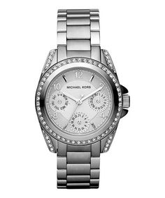 Look at this #zulilyfind! Crystal & Silvertone Blair Multi-Function Glitz Watch #zulilyfinds