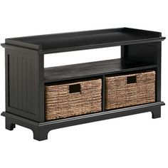 Holtom Entryway Seat - Black - Pier 1 - would love this at my back door for kids storage coming home from school.