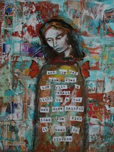 """""""Give it a Try"""" mixed-media  Teresa Madore"""