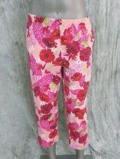 Marisa Christina cropped capri pants floral Womens size S  #MarisaChristina #CaprisCropped