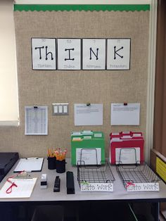 This is what I plan to do for my Make-Up work area of the classroom. This way they will always know where to go and what to do when they miss class.