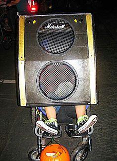 Speaker wheelchair costume