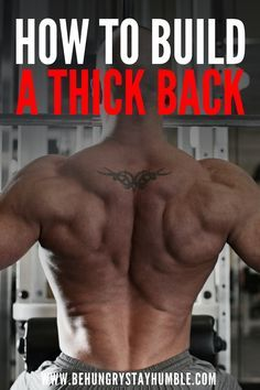 Are you trying to gain lean mass and build muscle? Do you want to look bigger and stronger? Check out this article to learn how to build a wider and thicker back. Having a nice thick back will help you look more dense and much stronger. Increasing the wid Muscle Fitness, Mens Fitness, Fitness Goals, Fitness Motivation, Exercise Motivation, Back Workout For Mass, Chest And Back Workout, Kickboxing Workout, Gym Workouts