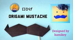 折り紙 口ひげ Mustache Origami