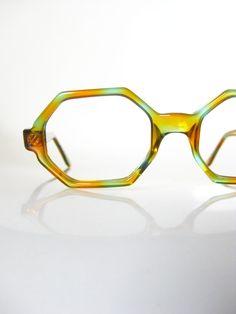 Vintage 1960s Eyeglasses Tangerine Teal Glasses Victory Optical Frames 60s Glasses Womens Orange Blue Octagonal Avant Garde Womens Ladies on Etsy, $145.00
