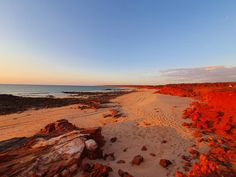 Sunset at James Price Point 😍❤🍻 say no more. Western Australia, Australia Travel, Red Sand Beach, Price Point, Offroad, Sunsets, Playground, Exploring, Country Roads