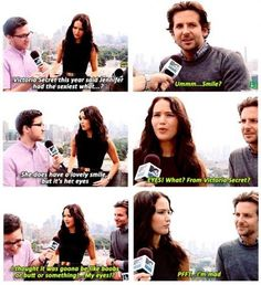 ... Lets just take a second to appreciate how attractive Bradley Cooper is then how funny Jennifer is.