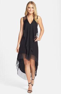 BCBGMAXAZRIA Illusion Detail Knit High/Low Dress   Nordstrom