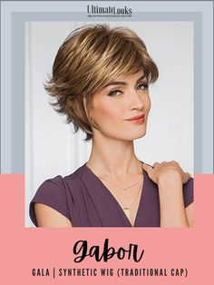 A full, barely waved top with short, textured layers in the sides and back that transform a short basic style into a fresh, sophisticated cut. #hairstyles #hairdo #hairoftheday #styleinspo #styles Gabor Wigs, Eva Gabor, Next Fashion, Fitted Caps, Short Styles, Wig Cap, Basic Style, Synthetic Wigs, Hairline