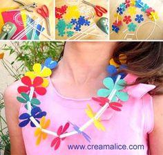 ¨°o.✄ ☼ Collier Hawaïen / Hawaiian Necklace ☼ ✄.o°¨  www.creamalice.com