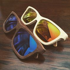 Classic series wooden eyewear - Mahogany & Maple by #plantwear