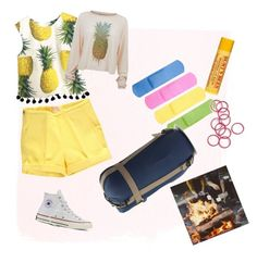 """""""Camp"""" by imcute1550 on Polyvore featuring Converse, Monki, Burt's Bees, Wildfox, summercamp and 60secondstyle"""