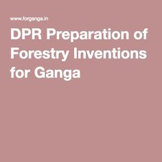 DPR Preparation of Forestry Inventions for Ganga