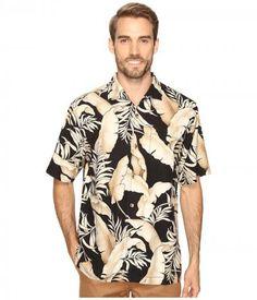 Tommy Bahama - Frego Fronds Short Sleeve Woven Shirt (Black) Men's Short Sleeve Button Up