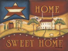 Posterazzi Home Sweet Home Canvas Art - Kim Lewis x Tole Decorative Paintings, Tole Painting, Framed Art Prints, Fine Art Prints, Poster Prints, Posters, Tile Crafts, Decor Crafts, Chicken Art