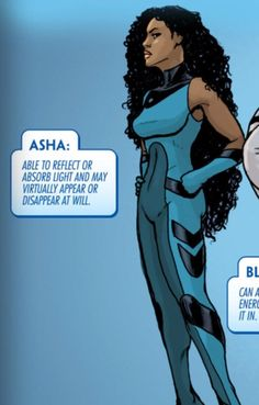 """""""Asha"""" is a member of the proud people of Wakanda. She has superhuman light based abilities. Under the reigning queen Shuri of Wakanda she joi..."""