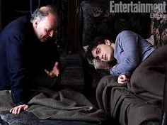 Director David Yates (left) and Radcliffe on set in the Drawing Room at Grimmauld Place, Harry Potter and the Deathly Hallows — Part 1 Harry Ptter, Harry Potter Food, Harry Potter Movies, Daniel Radcliffe, Saga, Harry Potter Funny Pictures, David Yates, Deathly Hallows Part 1, Love Me Better