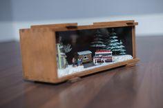 what's in the whiskey box part 2. #christmas #xmas #diorama #decoration #karácsony #dekoráció #miniature #ajándék #ötlet #diy #homedecor