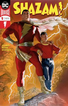 [Artwork] [Fan Art] New SHAZAM! mockup cover I made. I know Johns has got a good thing going but couldn't we just give Alex Ross half of the writing work with Shaner on art? (Cover by Alex Ross) Dc Comic Books, Comic Book Covers, Comic Art, Original Captain Marvel, Captain Marvel Shazam, Dc Comics Superheroes, Marvel Comics, Shazam Comic, Heroes Reborn