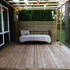 Pergola and day bed