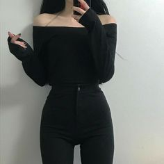 Find images and videos about girl, fashion and style on We Heart It - the app to get lost in what you love. Ulzzang Fashion, Asian Fashion, Look Fashion, Fashion Clothes, Girl Fashion, Fashion Outfits, Trendy Fashion, Fashion Styles, Womens Fashion