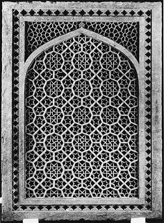 Jalis, or pierced screens, were used extensively in Indian architecture as windows, room dividers, and railings. In the course of the day, the movement of their patterns in silhouette across the floor would enhance the pleasure of their intricate geometry