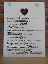 """Bild Wand Deko """"Unsere Kinder..."""" Shabby Landhaus Holz weiß Schild 26x35x1cm NEU"""