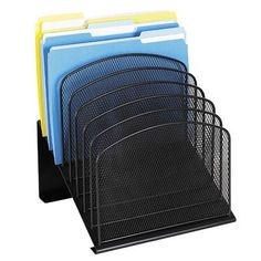 "Safco Products Mesh Desk Organizer, Eight Sections, 11.25"" Wide"