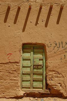 Wooden door in Yemen