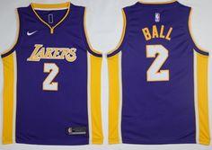 93346073b7dc Nike Lakers  2 Lonzo Ball Purple NBA Swingman Statement Edition Jersey