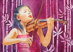 Violin Art - With Feeling by Jenny Armitage