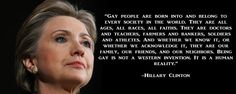 Hilary LGBT support