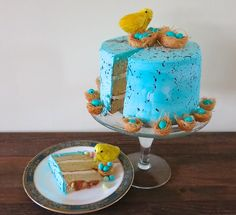 Malted Milk Cake: A Speckled Robin's Egg Blue Celebration of Spring and New Beginnings Angel Cake, Angel Food Cake, Milk Cake, Cake Flour, Angle Food Cake Recipes, Cinnamon Bun Recipe, Cake Story, 9 Inch Cake Pan, Easter Snacks